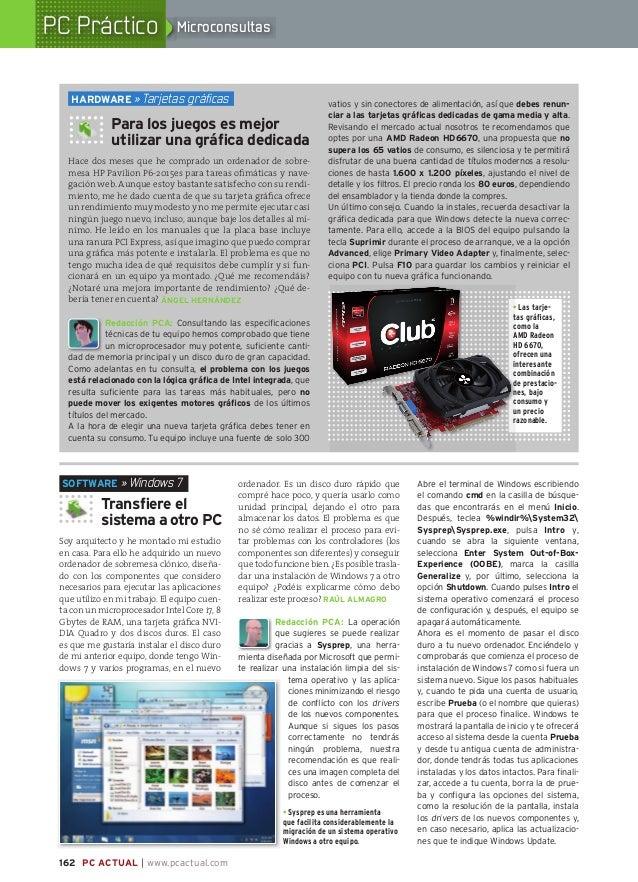 PC Práctico                           Microconsultas                     HARDwARE » Tarjetas gráficas                      ...