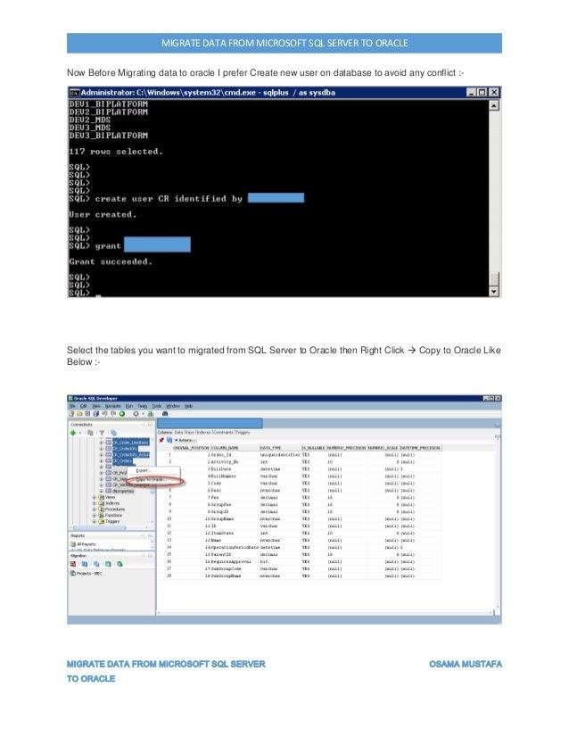 Migrate data from sql server to oracle using sql developer - Create table in oracle sql developer ...