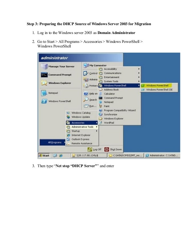 powershell 2.0 windows server 2003
