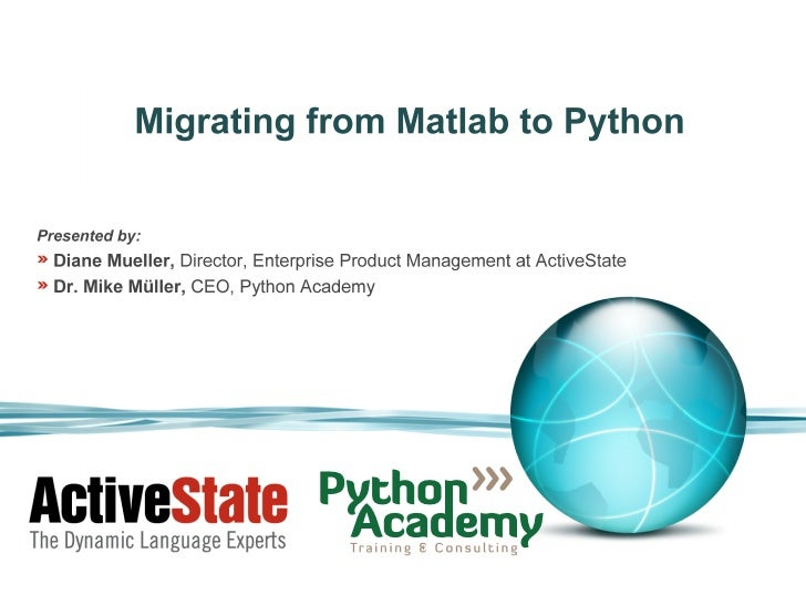 Migrating from matlab to python