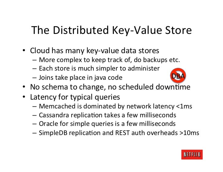The Distributed Key-‐Value Store • Cloud has many key-‐value data stores     – More complex to...
