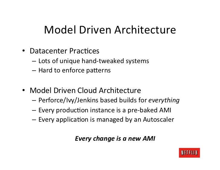 Model Driven Architecture • Datacenter PracKces    – Lots of unique hand-‐tweaked systems    – Har...