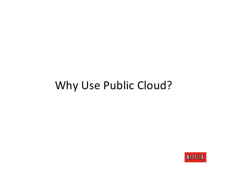 Why Use Public Cloud?