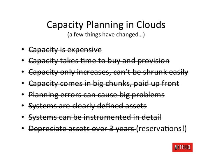 Capacity Planning in Clouds                      (a few things have changed…) •   Capacity is expen...