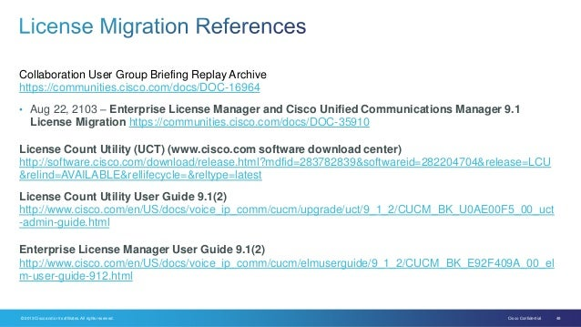 Migrating to cisco unified communications manager 9 1