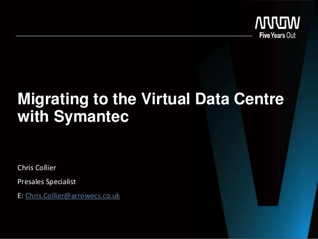 Migrating to the Virtual Data Centre with Symantec Chris Collier Presales Specialist E: Chris.Collier@arrowecs.co.uk