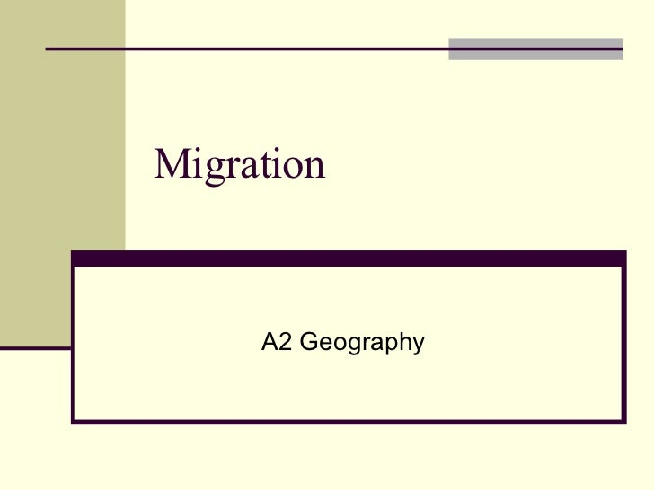 Migration A2 Geography