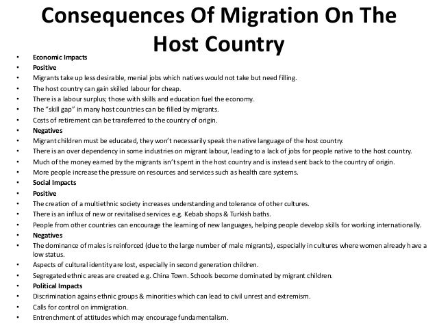 Causes and Effects of Migration