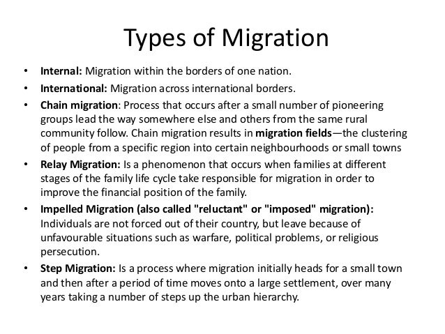 migration definition essay The economic conditions of world war i led to a massive movement of african americans from the south to the north, known as the great migration.