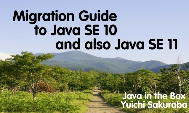 Migration Guide to Java SE 10, and also Java SE 11