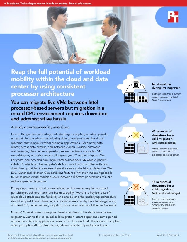 Reap the full potential of workload mobility within the cloud  April 2019 (Revised) and data center by using consistent p...