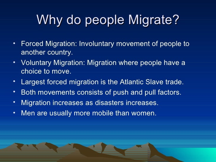 why do people emigrate Why do people emigrate by bishop's move, 17 october 2016 there are plenty of  reasons for moving house, and at some point in their lives, many people will.