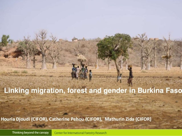 Linking migration, forest and gender in Burkina Faso Houria Djoudi (CIFOR), Catherine Pehou (CIFOR), Mathurin Zida (CIFOR)