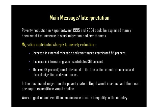 migration remittances inequality and poverty the This study provides a critical review of the role of international remittances and migration in promoting growth and reducing poverty and inequality in developing countries in asia and the pacific.