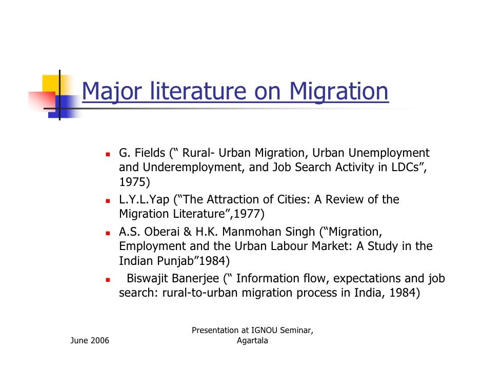 a study of the labor migration