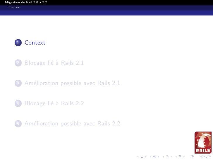 Migration Rails 2.0 2.2 Slide 2