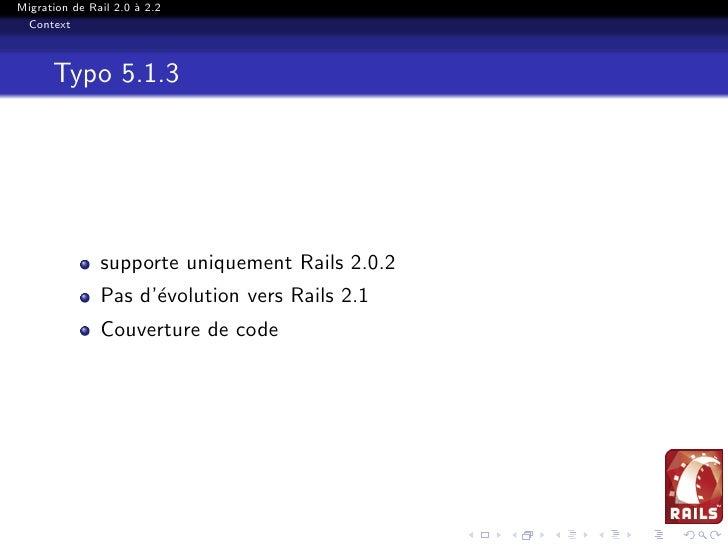 Migration Rails 2.0 2.2 Slide 3