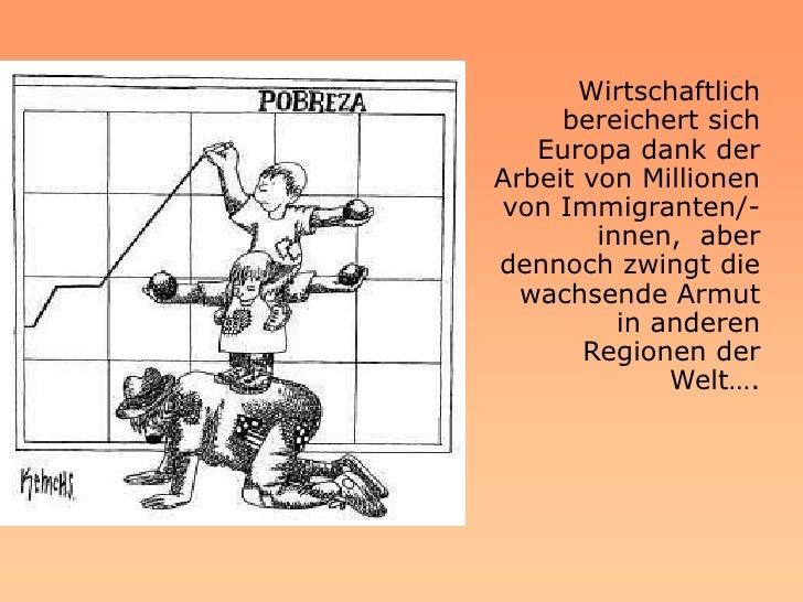 Gegenüber diesem zunehmenden  Migrationsdruck geben Europa      und die Schweiz eine     inkohärente Antwort.