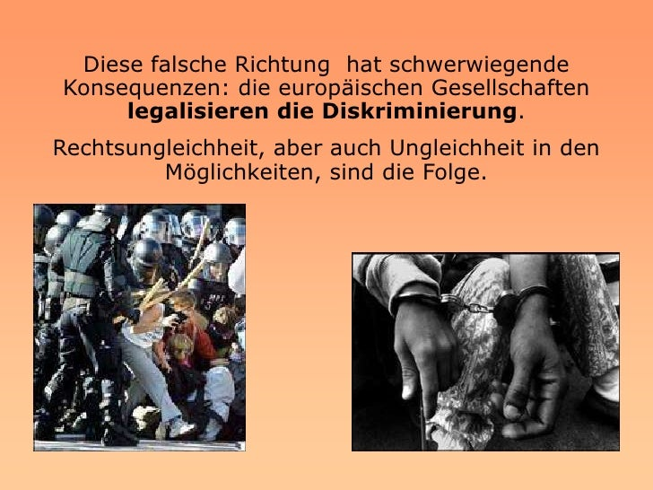 Verchiedene aktuelle Konflikte in der Welt haben auch   ihr Echo in Europa und vergrössern den Abgrund        zwischen men...