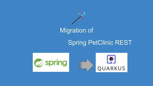 Migration of Spring PetClinic REST