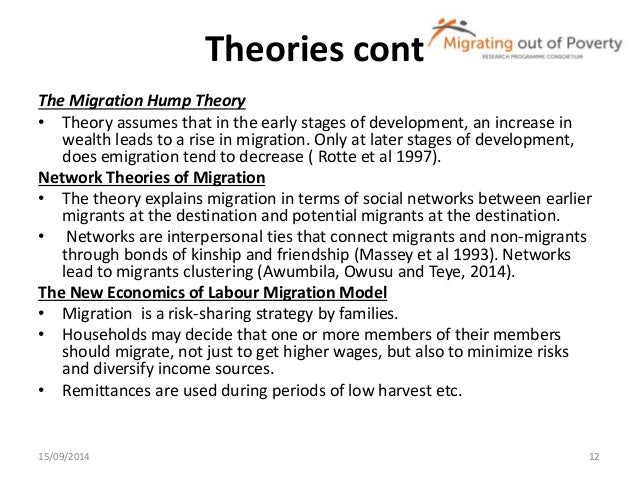 a discussion on migration theories Attitudes towards immigrants and the integration of ethnically diverse societies tiiu paas and vivika halapuu norface migration discussion paper no 2012-23.