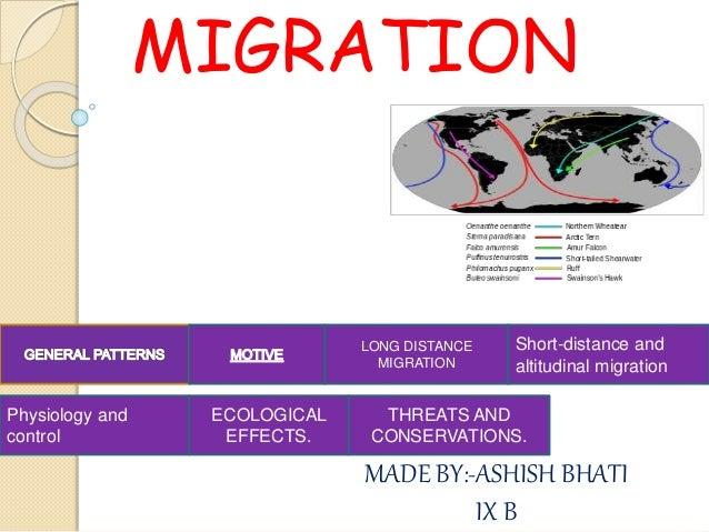 Long distance migration 1700 1900