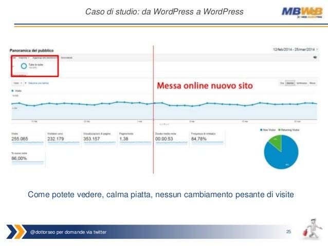 @dottorseo per domande via twitter 25 Caso di studio: da WordPress a WordPress Come potete vedere, calma piatta, nessun ca...