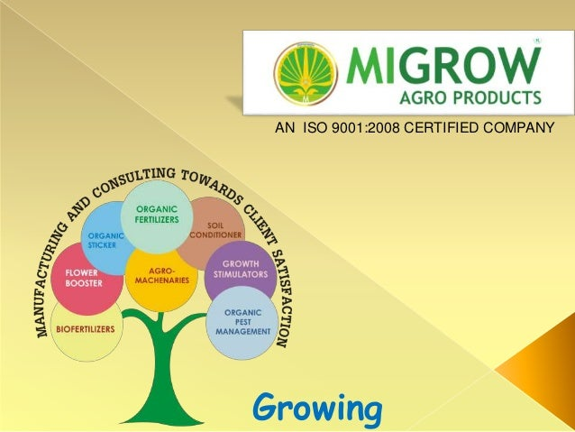 Growing AN ISO 9001:2008 CERTIFIED COMPANY