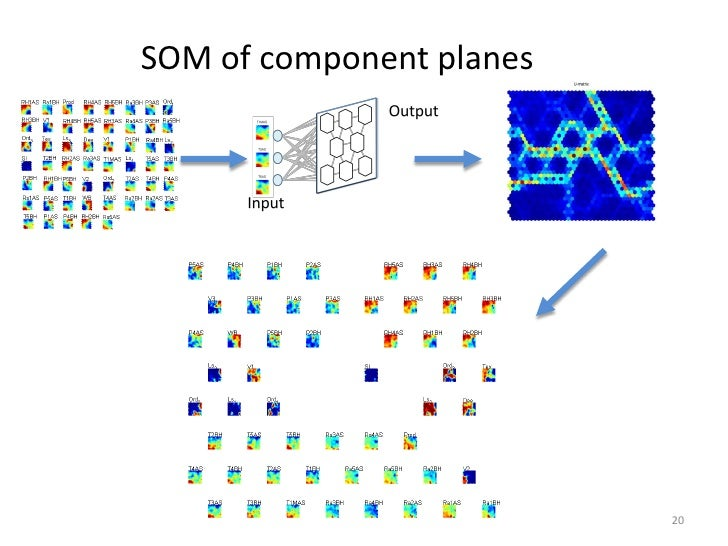 SOM of component planes                          20