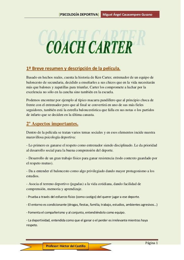 Miguel.casasempere coach carter