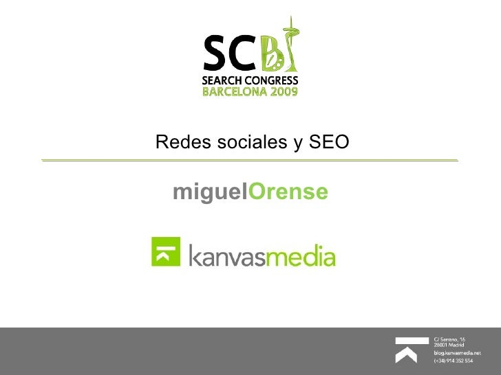 Redes sociales y SEO miguel Orense