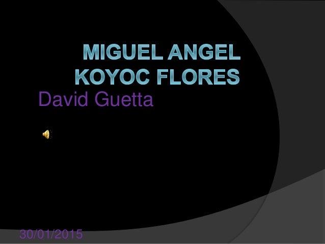 David Guetta 30/01/2015
