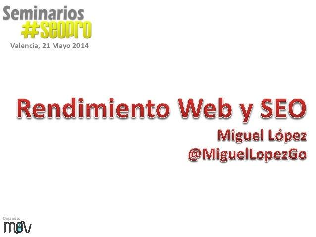 Organiza: Valencia, 21 Mayo 2014