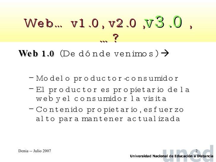 Web semántica y visiones de la web 3.0  Slide 2