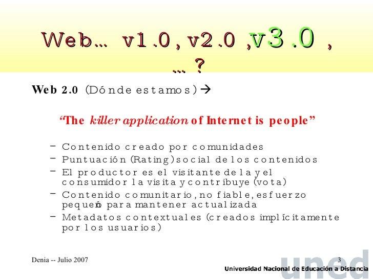 Web semántica y visiones de la web 3.0  Slide 3
