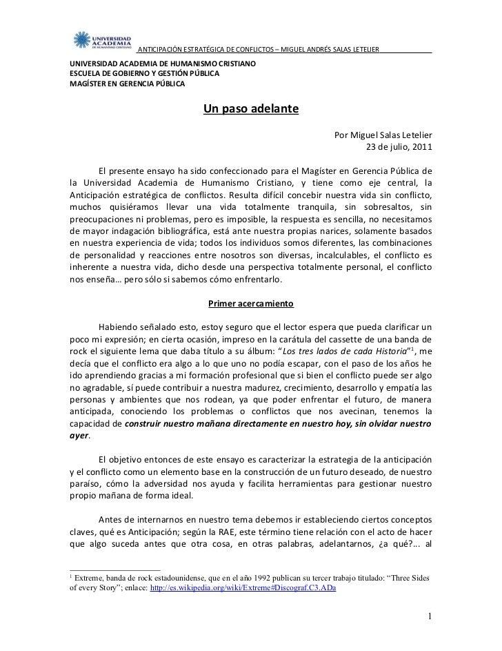 ANTICIPACIÓN ESTRATÉGICA DE CONFLICTOS – MIGUEL ANDRÉS SALAS LETELIERUNIVERSIDAD ACADEMIA DE HUMANISMO CRISTIANOESCUELA DE...