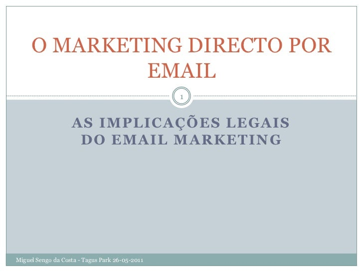O MARKETING DIRECTO POR              EMAIL                                                1                   AS IMPLICAÇÕ...