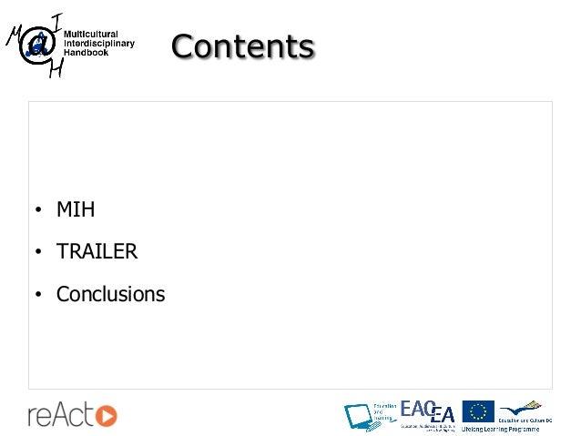 Multicultural Interdisciplinary Handbook - reAct International Conference (Valencia) Slide 2