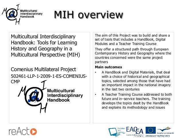 Multicultural Interdisciplinary Handbook - reAct International Conference (Valencia) Slide 3