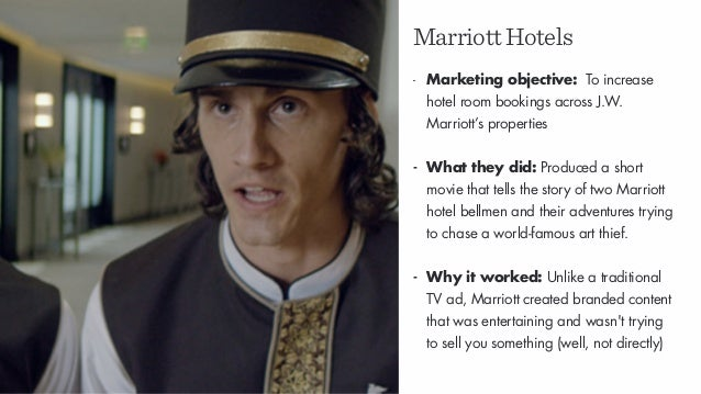MarriottHotels - Marketing objective: To increase hotel room bookings across J.W. Marriott's properties - What they did: P...