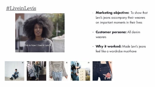 #LiveinLevis - Marketing objective: To show that Levi's jeans accompany their wearers on important moments in their lives ...