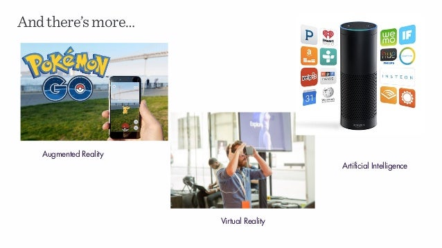 Andthere'smore… Augmented Reality Virtual Reality Artificial Intelligence