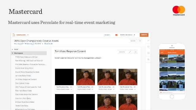 Mastercard Mastercard uses Percolate for real-time event marketing