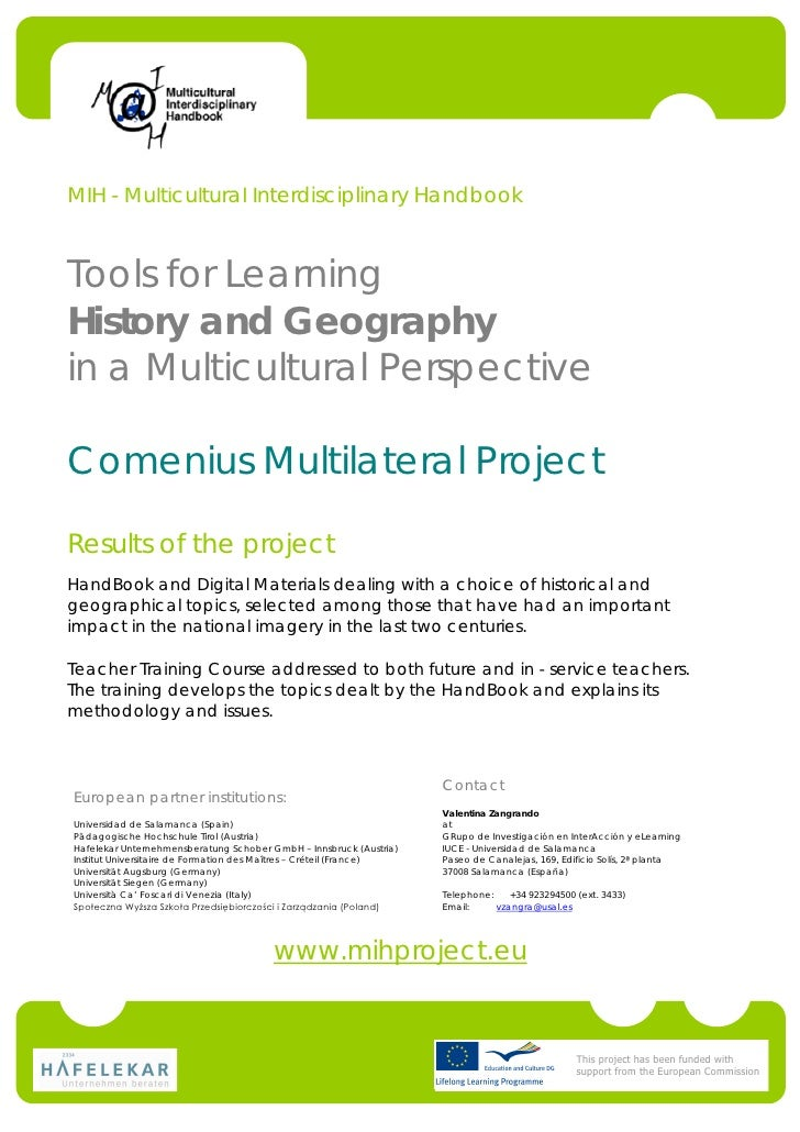 MIH - Multicultural Interdisciplinary HandbookTools for LearningHistory and Geographyin a Multicultural PerspectiveComeniu...