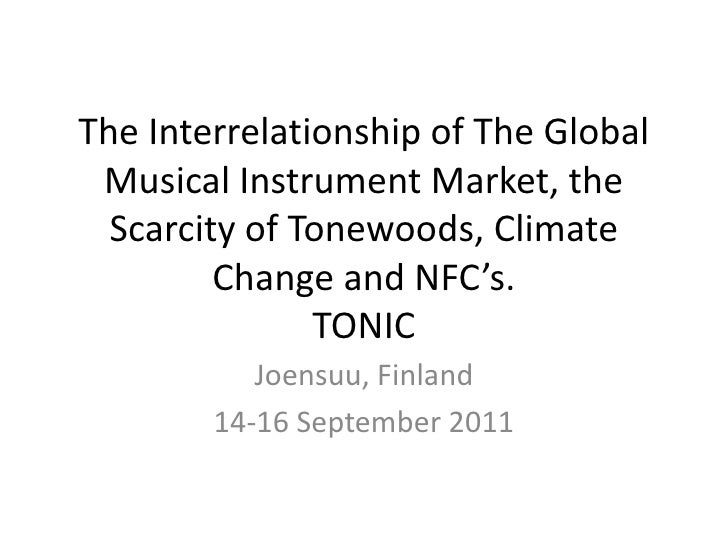 The Interrelationship of The Global Musical Instrument Market, the Scarcity of Tonewoods, Climate Change and NFC's.TONIC<b...