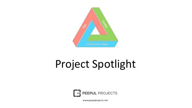 Project Spotlight www.peepulprojects.com