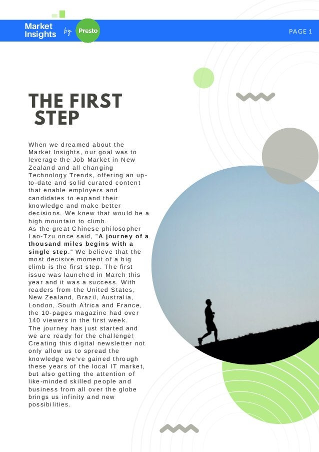 PAGE 1 THE FIRST STEP When we dreamed about the Market Insights, our goal was to leverage the Job Market in New Zealand an...