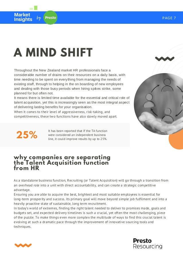 PAGE 7 Market Insights by Throughout the New Zealand market HR professionals face a considerable number of drains on their...