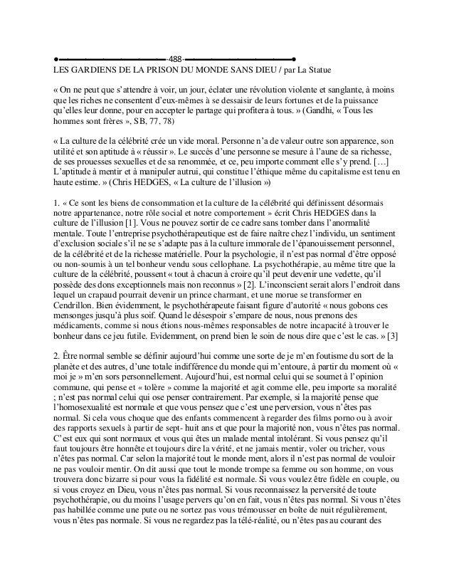 ●▬▬▬▬▬▬▬▬▬▬▬▬-488-▬▬▬▬▬▬▬▬▬▬▬▬● LES GARDIENS DE LA PRISON DU MONDE SANS DIEU / par La Statue « On ne peut que s'attendre à...