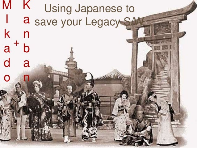 M I k a d o Using Japanese to save your Legacy S/W K a n b a n +